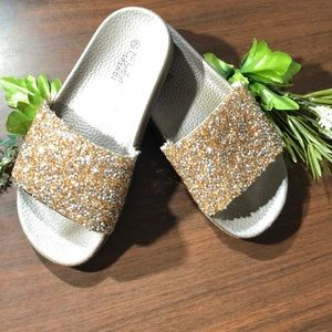 Other - Sparkly-Gold Dust Sandals!